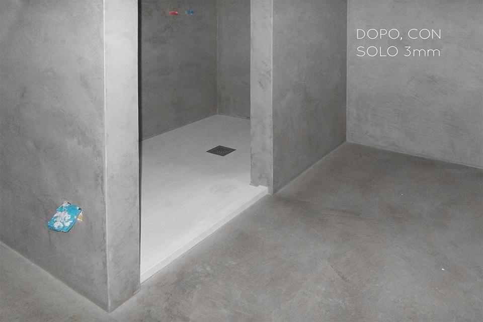 Ristrutturare il bagno  Piatto doccia in cemento  Concrete Design