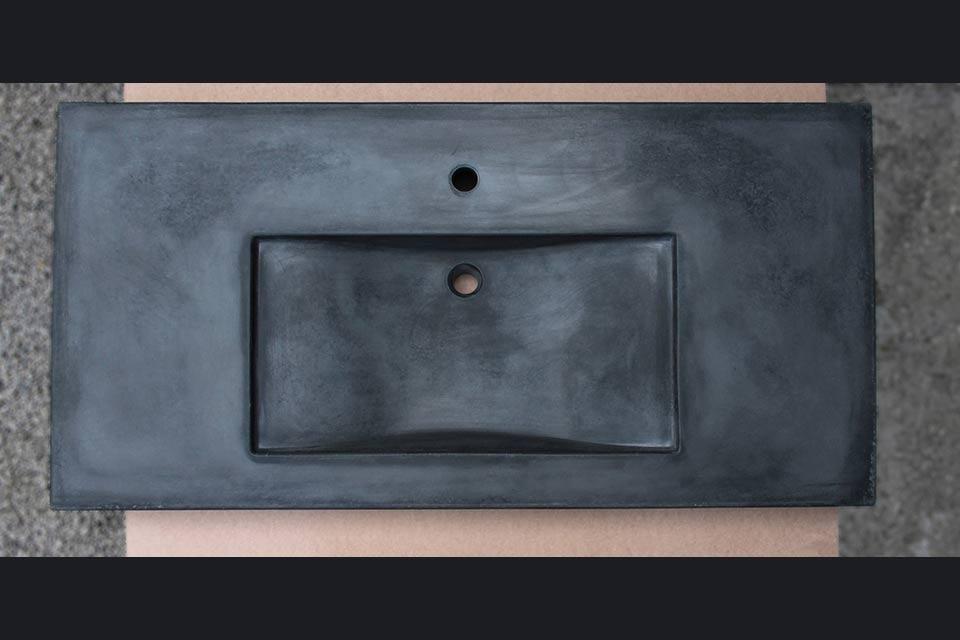 Lavabo in cemento nero sospeso | Concrete Design | Lemiro Srl