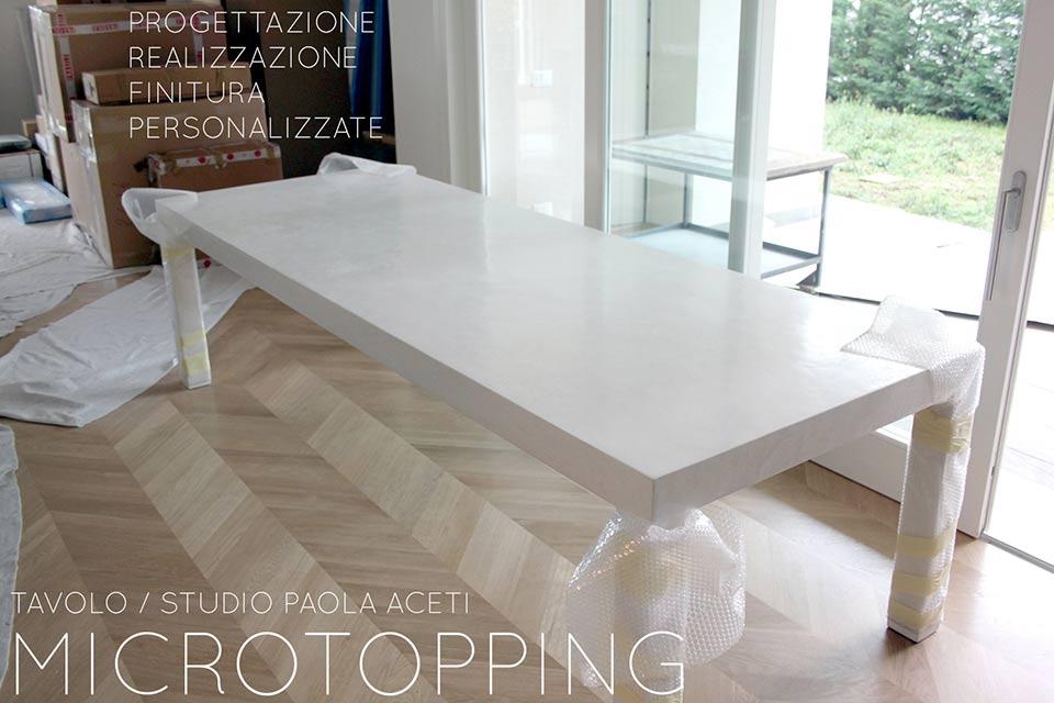 Tavolo in cemento per sala da pranzo microtopping for Tavolo da pranzo design