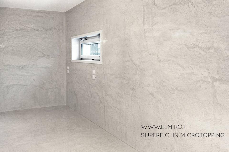 Lemiro srl microcemento microtopping pavimenti pareti - Microcemento bagno ...